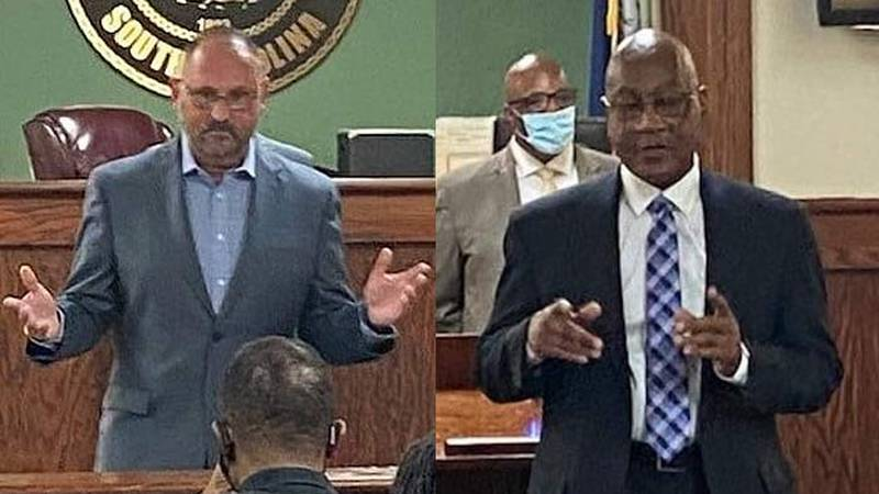 Orangeburg Department of Public Safety Chief Mike Adams (left) is retiring after 35 years of...