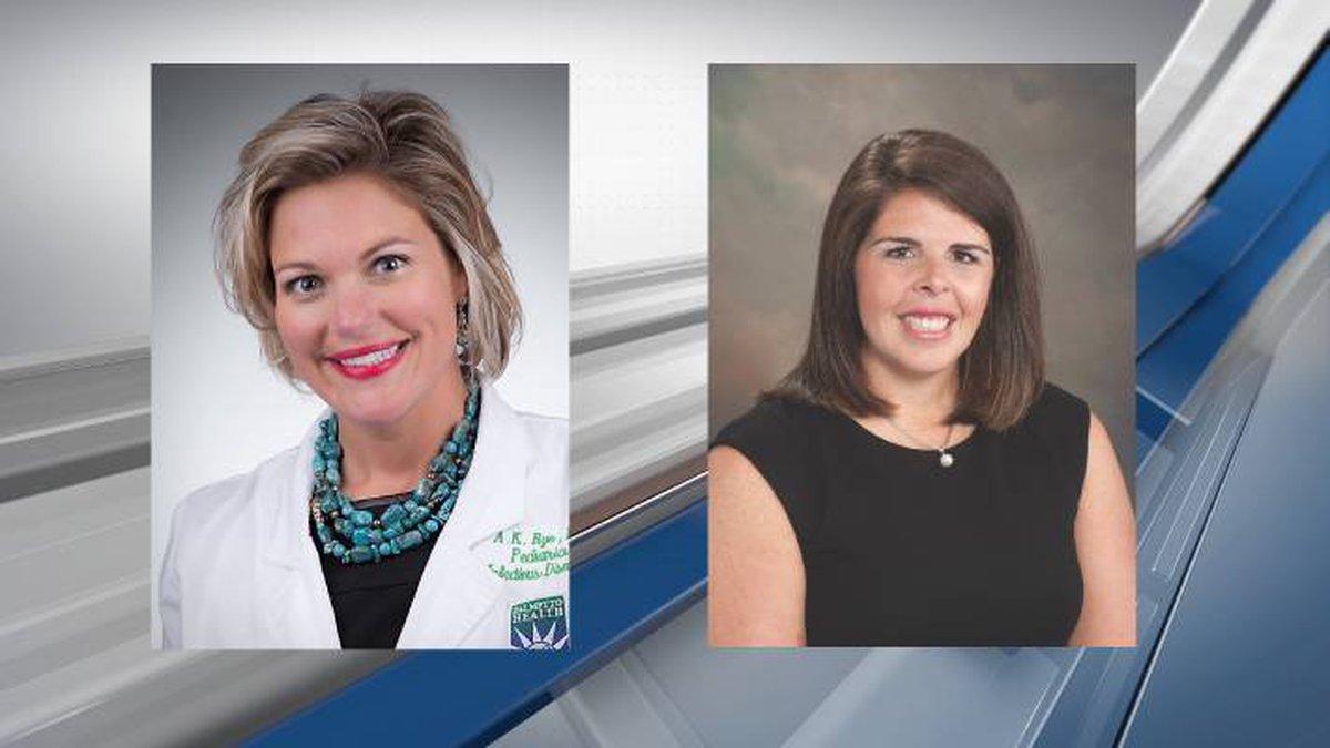 Dr. Anna Kathryn Burch (L) and Dr. Lauren Matthews (R)