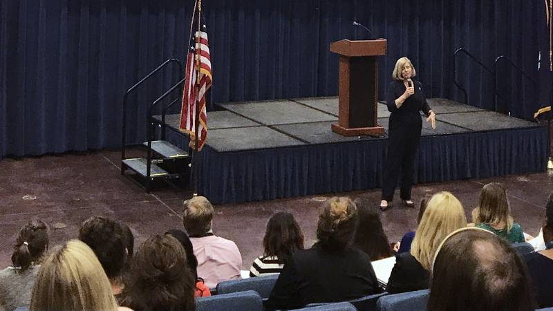 More than 100 teachers from the Tri-county participated in a forum led by the leader of the...