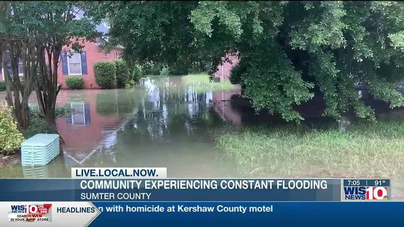 Sumter community floods again, residents ask local government for help