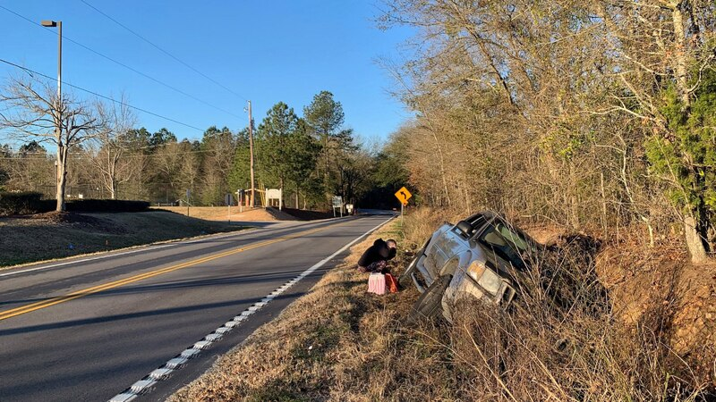 A motorist lost control of a vehicle in Lexington due to ice Monday morning.