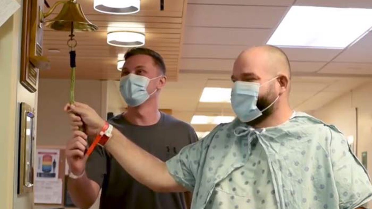Clemson Police officer Zachary Yasin, left, donated a kidney to Greenville father Thomas Banks....