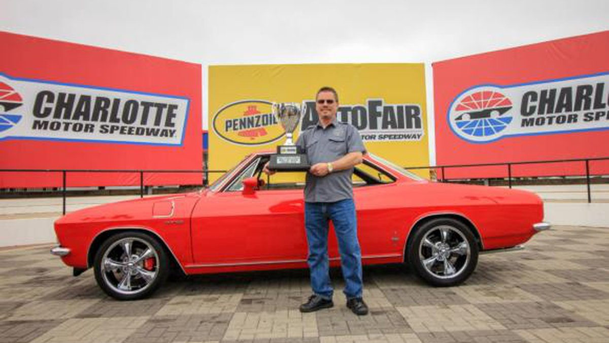 Ronnie Jenkins, of Rock Hill, SC, honored his late father when the 1965 Corvair Corsa they...