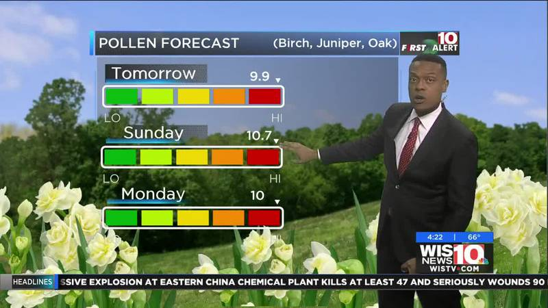 Dominic Brown's evening forecast