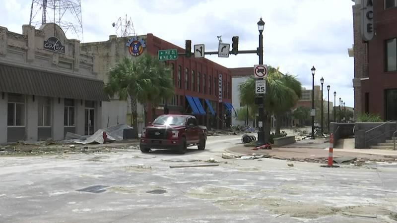 Laura Downtown Lake Charles Damage