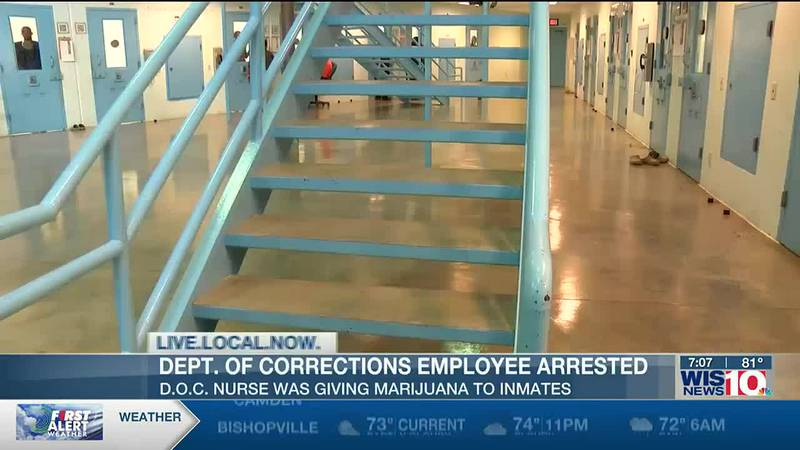 Department of Corrections nurse charged with intent to distribute marijuana