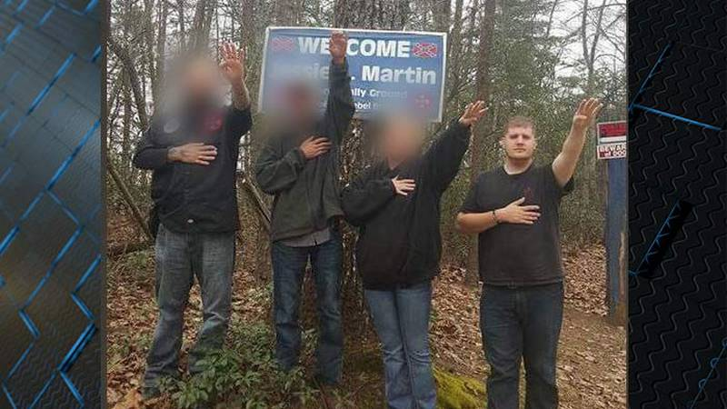Larry Colson, right, says he was forced to make a Nazi salute when he was 15 years old. He said...