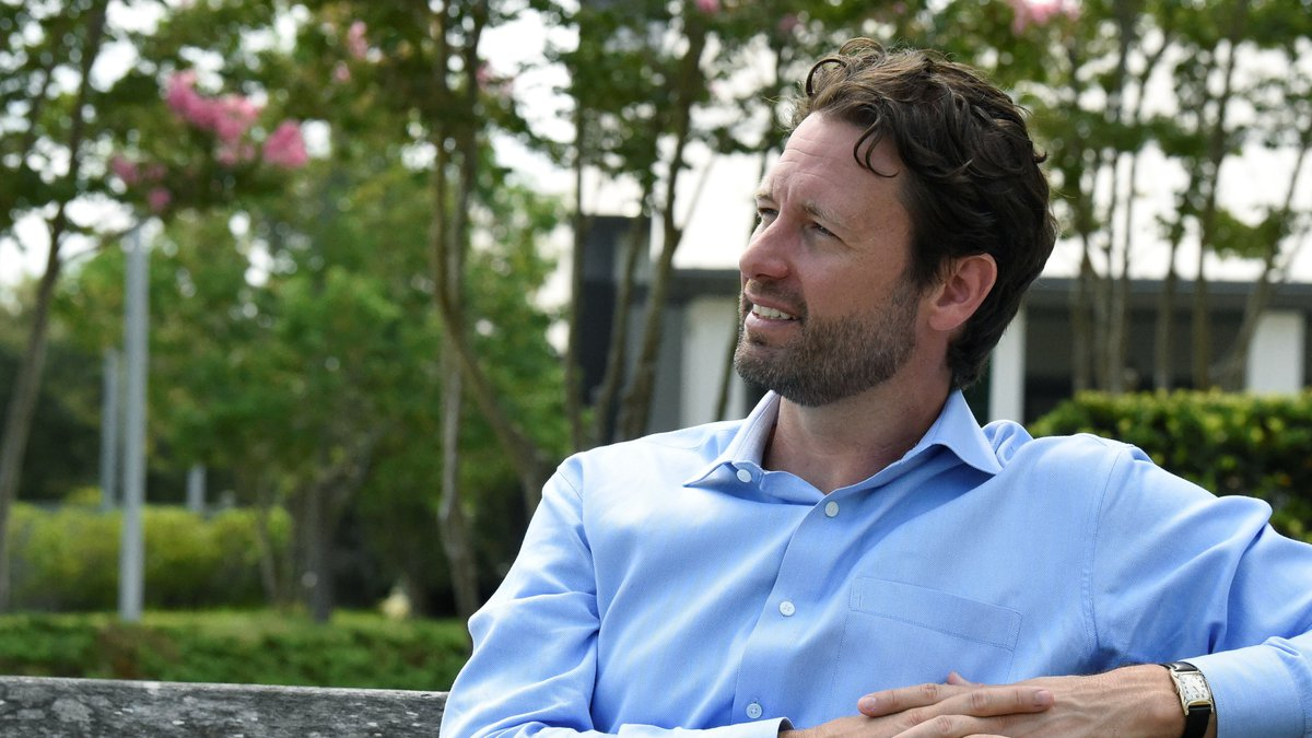 Former U.S. Rep. Joe Cunningham talks during an interview with The Associated Press about his...