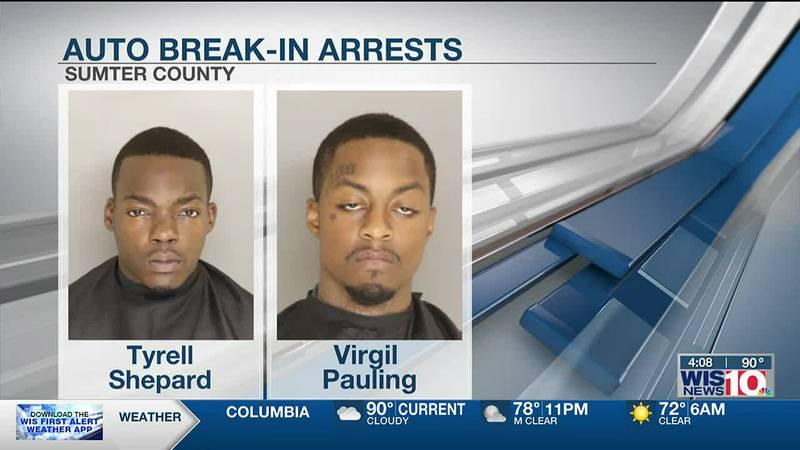 Auto break-in suspects draw multi-agency investigation in Sumter