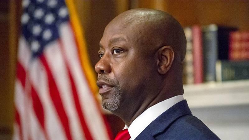 Sen. Tim Scott, R-S.C., meets with Judge Amy Coney Barrett, President Donald Trumps nominee for...