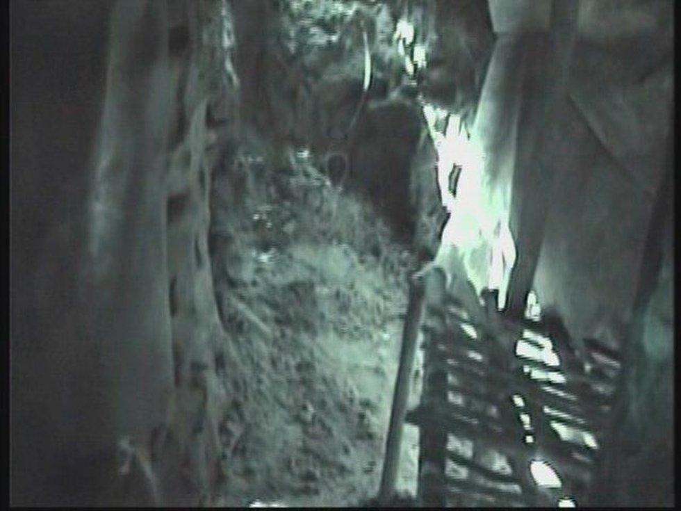 The hole where Filyaw held Elizabeth Shoaf hostage.