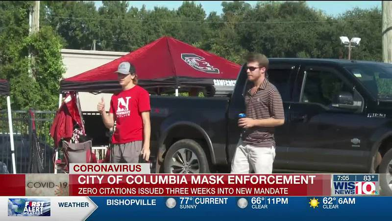 Columbia Fire Marshals reviewing mask mandate enforcement following largely maskless crowd at...